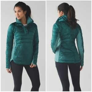 Lululemon Down For a Run Pullover Forage Teal NWOT